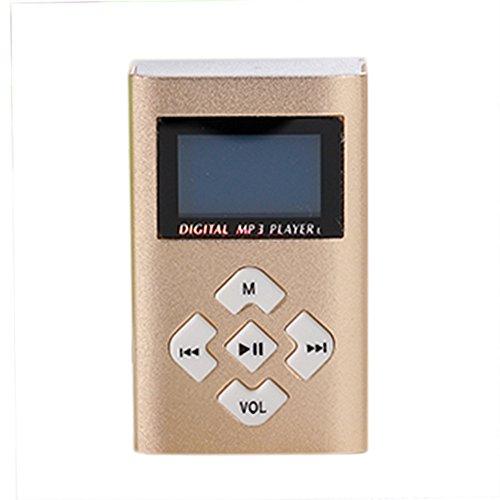 CZYCO Portable USB Mini MP3 Player LCD Screen Support 8GB Micro SD TF Card (Gold) (Audio By Books Iris Mp3 Johansen)