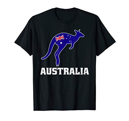 Australian Kangaroo Shirt Australia Flag Souvenir Gift Idea (Best Australian Souvenir Ideas)