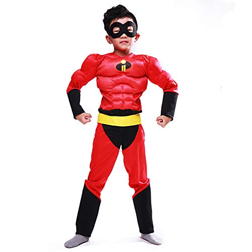 Mr Incredible Costume,Hallowmax The Incredibles Costume Deluxe Muscle Chest Cosplay Outfits Black -