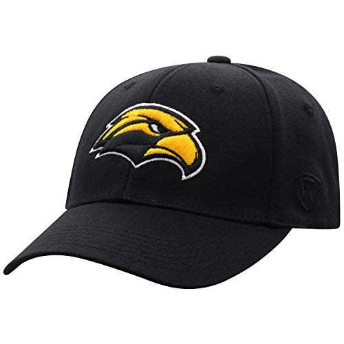 Top of the World Southern Mississippi Golden Eagles Men's Memory Fit Hat Icon, Black, One Fit
