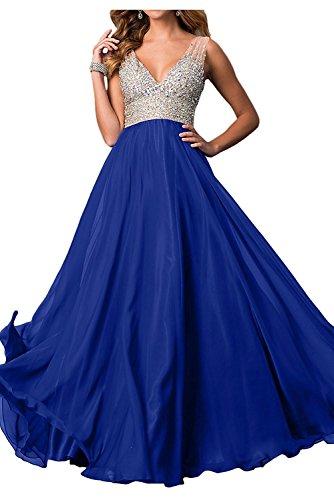 La Neu Kleider Braut Jugendweihe Partykleider Ballkleider Traube Promkleider Royal Chiffon Blau Langes Abendkleider mia vBnTrqwvP