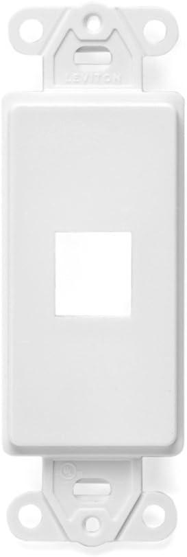 Leviton 41641-W QuickPort Decora Insert, 1-Port, White
