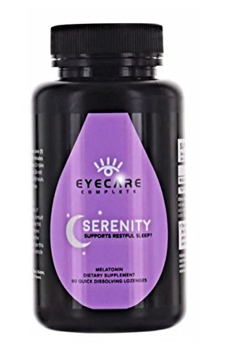 Serenity Natural - Eye Care Complete - Serenity, Helps Support Eye Health and Natural Sleep, 90 Quick Dissolving Lozenges