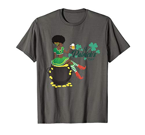 African-American Female Leprechaun T-Shirt -