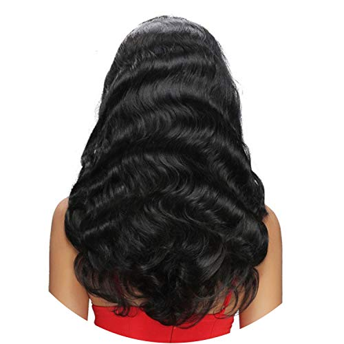 134 Lace Front Human Wigs For Women Brazilian Body Wave Lace Frontal Wig Pre Plucked With Baby Remy Black Color,Natural Color,14inches ()