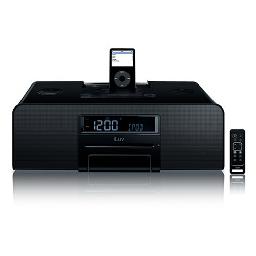 iLuv High-fidelity multimedia system with BluePin for your iPod(Black)