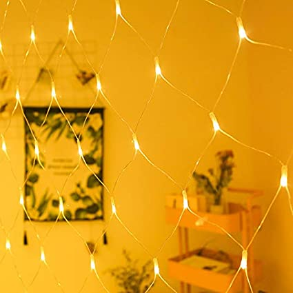 SYQS Luces de Red solares Redes de lámparas, Luces de Navidad ...