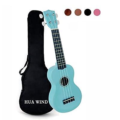 HUAWIND Soprano Ukulele For Beginners Four String Ukulele Start Pack