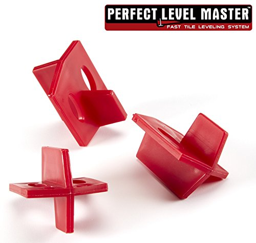 1/8'' Reusable Tile spacers PERFECT LEVEL MASTER Bag of 100 three sides spacers for wall and floor by Perfect Level Master ™