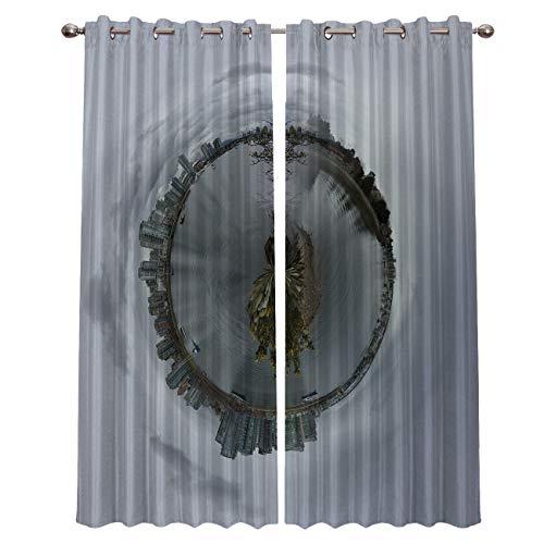 Blackout Curtains,Set of 2 Panels,Vancouver Canada City Landscape(52