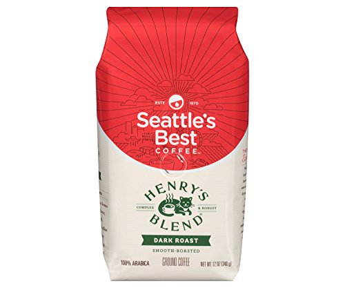 Seattle's Best Coffee Henry's Blend Dark Roast Ground, 12 oz (Pack of 2) 24 Ounces total