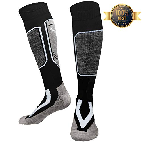 Ski Socks High Performance Thick Snow Skiing Socks- Thickening Warm Outdoor Wool Sports Stocking for Skiing Hiking Snowboard