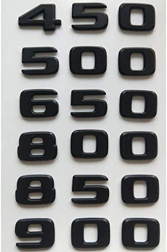 vitesurz for Brabus B20 B25 B35 450 500 550 580 600 650 700 800 850 880 900 950, Matt Black Number Emblems Letter