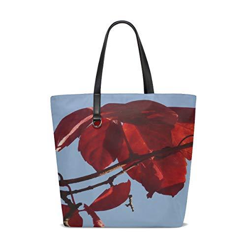 KUneh Women Wine Partner Autumn Wine Vine Color Red Emerge Handle Satchel Handbags Shoulder Bag Tote Purse Messenger -