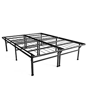 zinus 18 inch premium smartbase mattress foundation 4 extra inches high for under bed storage platform bed frame box spring replacement strong - Strong Bed Frame