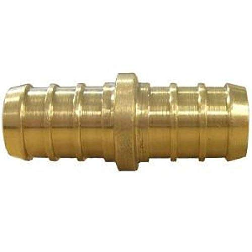Pexflow EPCP0012-10 PEX X PEX Straight Coupling Barb Pipe Fitting, 1/2