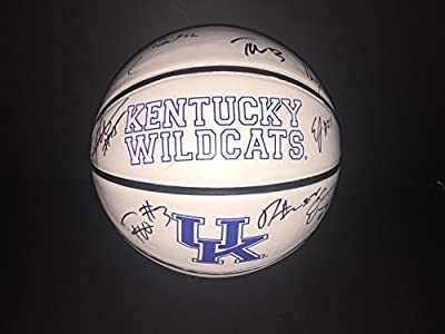 2015-16 Kentucky Wildcats Multi Signed Basketball w/COA Team A