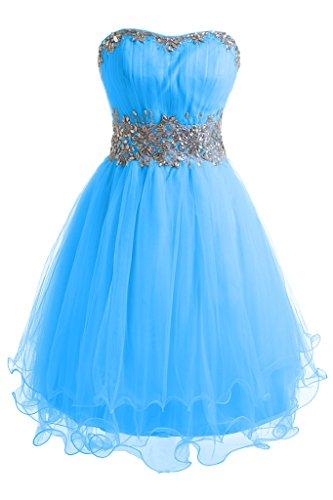 Dunkelblau Bride Ballkleid Linie Zaertlich Tuell Gorgeous Mini Abendkleid Traegerlos A Organza Festkleid BqgPqfw