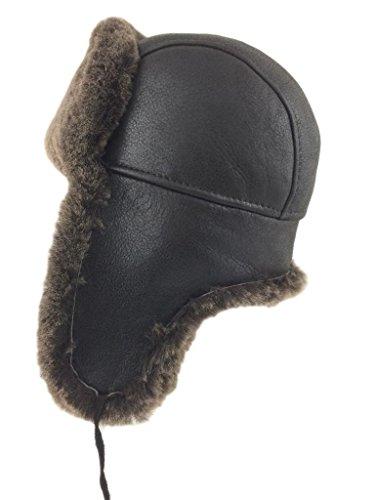 Zavelio Shearling Sheepskin Leather Aviator