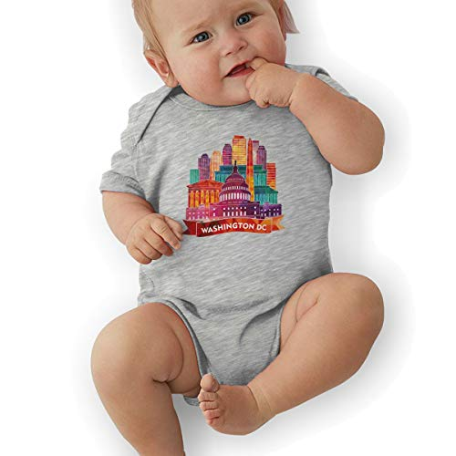 Faleny Cotton Baby Onesies-Unisex Breathable Rompers Washington DC