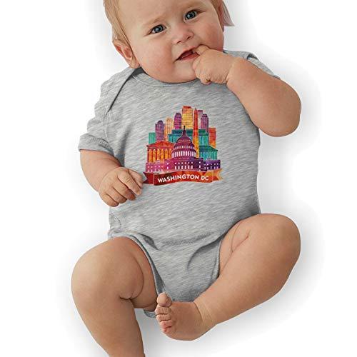 Faleny Cotton Baby Onesies-Unisex Breathable Rompers Washington DC Bodysuits Lab Shoulder Neckline Jumpsuit Infant One-Piece Outfit Short Sleeve Jersey 0-24 Months ()