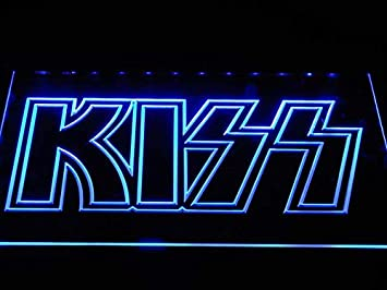 Amazon.com: MorganNeon Kiss Band - Cartel con luz LED de ...