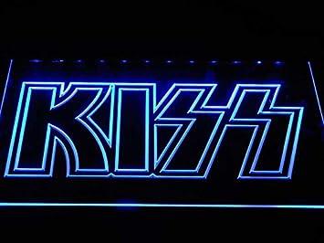 Amazon.com: MorganNeon Kiss Band - Cartel con luz LED de ...