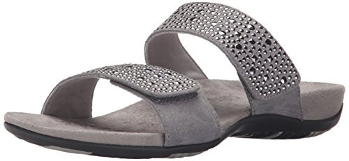 Leather US M 11 Samoa by Sandals Orthaheel Vionic Women's B Pewter Pewter nxzX01zRv