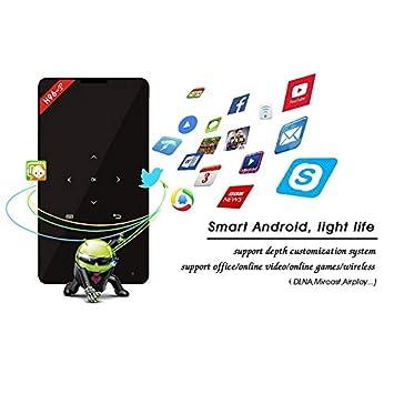 Mini proyector de tamaño pequeño 1GB + 8GB 4K HD 1080P con WiFi ...
