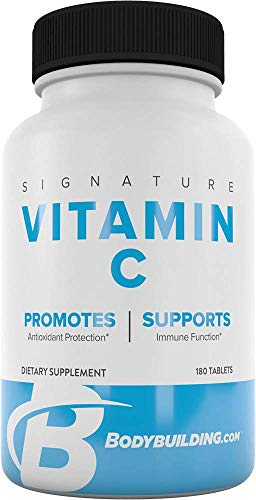 BodyBuilding.Com Signature Vitamin C 500mg Tablets | Antioxidant Protection, Supports Overall Health | 120 Count