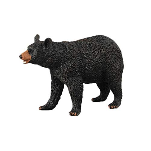 Animal Model Toy Lifelike Black Bear Figurine Model Plastic Ornament Toys - Good Choice Of Gifts for Your Friends or Children (D)