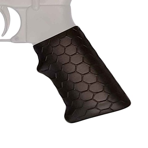 Covert Clutch | Universal Tactical Handgun Grip Sleeve with Hex Pattern (Tactical Matte Black)