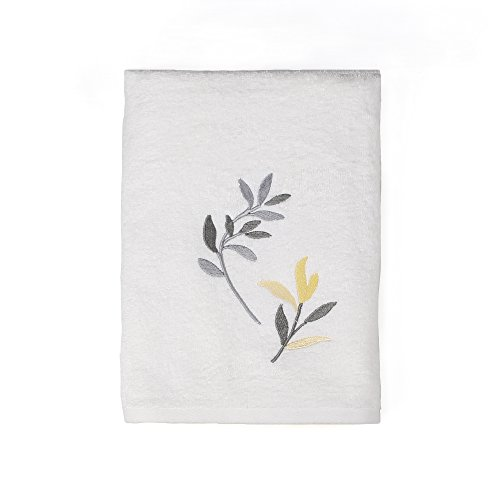 Saturday Knight Trellis Bath Towel,Yellow/Gray