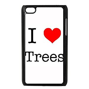 iPod Touch 4 Case Black I Love Trees Phone Case Active Plastic MTK