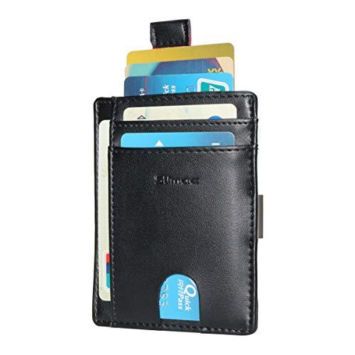 Money Clip Wallet for Men RFID Blocking Genuine Leather Slim Card Holder Case By Slimac