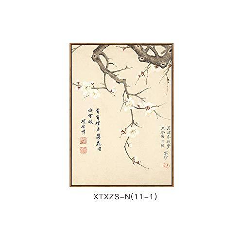 und DEED Chinesische Blumenmustermalerei Wandmalerei Dekorative Malerei Elegante Elegante botanische G Wohnzimmerdekorationsmalerei Schlafzimmermalerei Moderne rrxYwqO