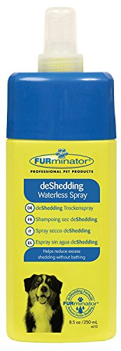 FURminator Waterless deShedding Shampoo and Conditioner for Dogs and Cats, 8 Ounces