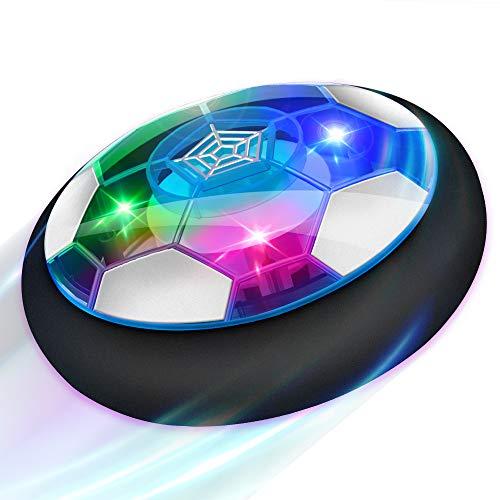 Baztoy Balón Fútbol Flotant, Recargable Pelota Futbol con Protectores de Espuma Suave y Luces LED, Balones Futbol Juguete Niños