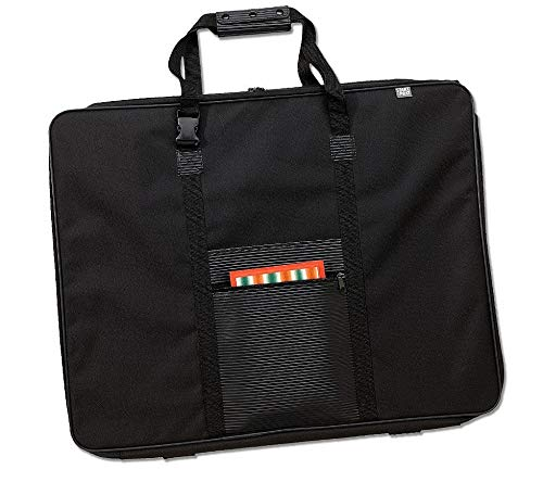 Prat Start Softside Portfolio, Wire-Framed Nylon Cover, Handle-to-Strap Feature, 26 X 20 X 3 inches, Black (SF-26-N)