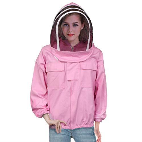 Luwint Ventilated Beekeeping Jacket - Professional Cotton Beekeeper Jacket Beekeeping Suit with Fencing Veil Hood for Men Women Beekeeper -