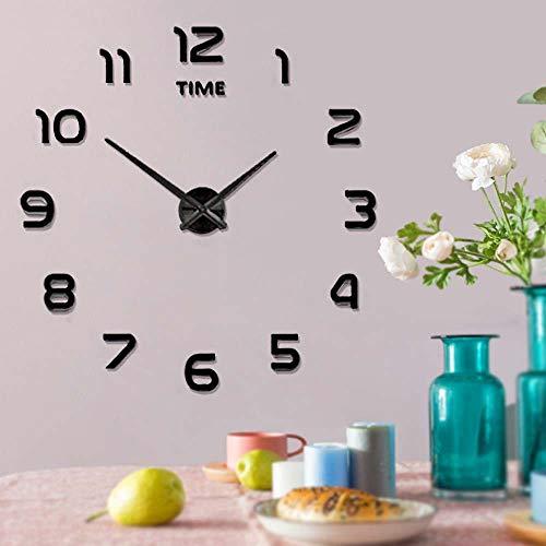 Frameless Large 3D DIY Wall Clock Mute Mirror Stickers Home Office School Decoration (2-Year Warranty) 2 Frameless Wall Art