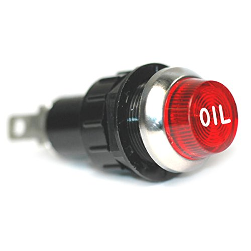 Large Red Oil Engraved For Oil Pressure Indicator Warning Light Bolts Into A 3/4 Inch Hole