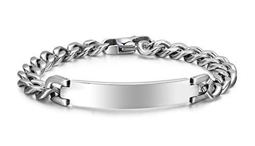 Silver Id Bracelet - 5