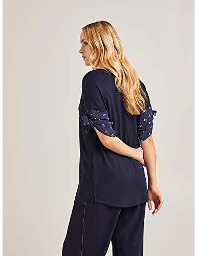 T Bordi Con Size Blu italian Stampati Elena shirt Mirò 7IvKx5