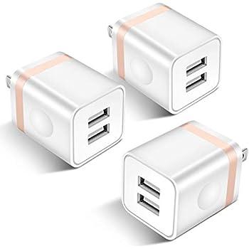 Amazon.com: Dual Port USB Wall Charger,2 Pack Ehoho 5V/2.1A ...