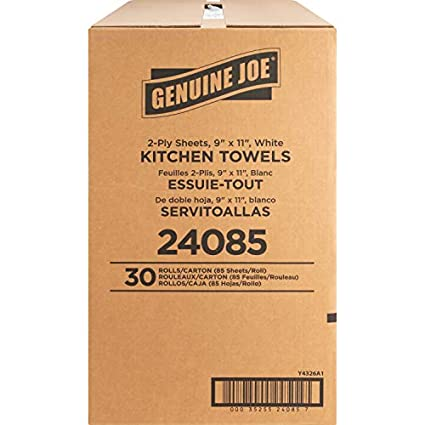 Case of 30 Genuine Joe® 85-sheet Perforated Roll Paper Kitchen Towels *NEW*NIB*