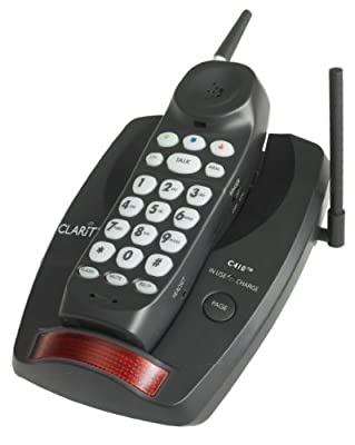 Clarity Extra Loud Big Button Cordless Phone (clarity-c410) -