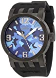 Invicta Men's 10460 DNA Blue Camouflage Dial Black Silicone Watch