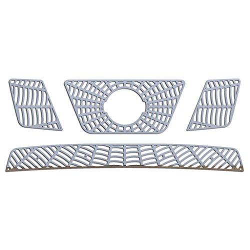(Ferreus Industries Polished Stainless Spider Web Grille Grill Insert Trim fits: 2005-2007 Nissan Pathfinder TRK-134-07-02)
