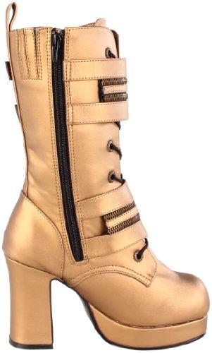 Piacevole Da Donna Gothika-100 Boot In Poliuretano Color Bronzo